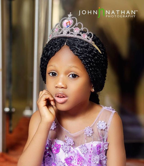 Adorable new photos of Elo Ogidi, the 5-year-old girl who was abducted from church and recently found in Edo