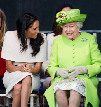 Meghan Markle speaks about Queen Elizabeth in first film since royal wedding
