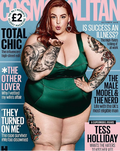 Piers Morgan blasts the new Cosmopolitan cover featuring plus-size model Tess Holliday; she responds