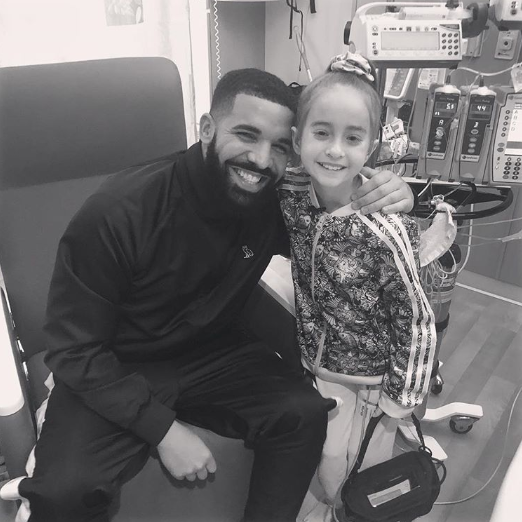 Girl who was surprised by Drake on her birthday gets her second wish , a heart transplant and her reaction is priceless!