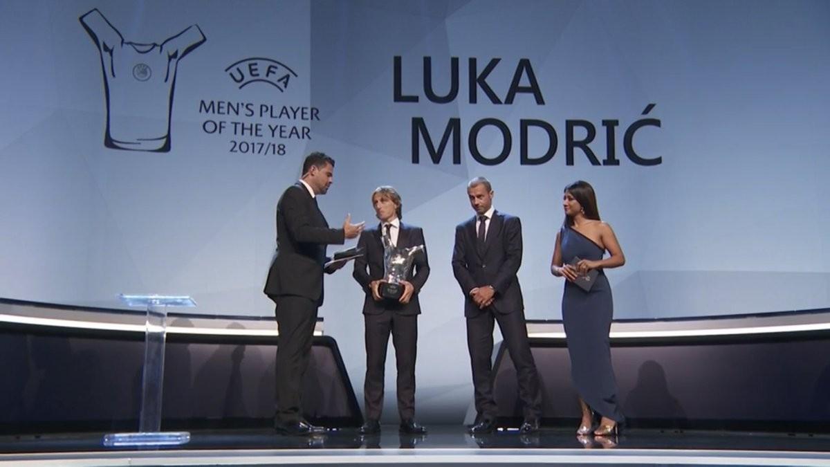 Real Madrid midfielder Luka Modric beats Cristiano Ronaldo and Mohamed Salah to win UEFA's Men's Player of the Year award (Photos)