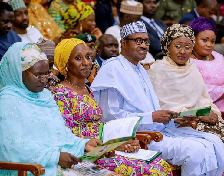 Caption this photo of Aisha Buhari and Dolapo Osinbajo Hypper360