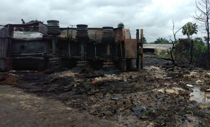 Petrol tanker explodes in Rivers State; houses, church burnt