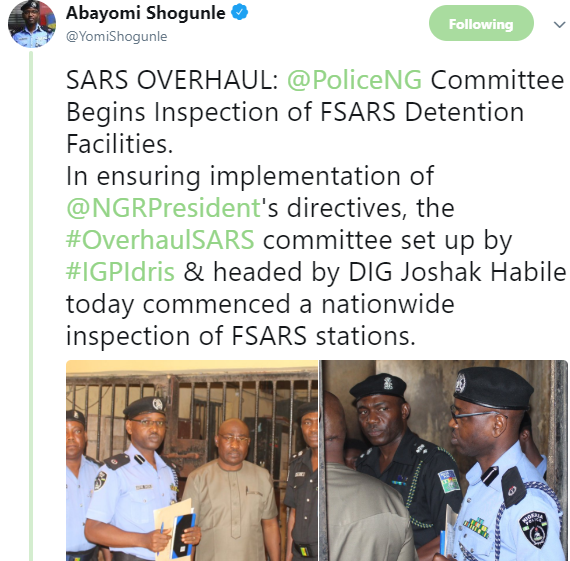 Photos: Police committee begins inspection of FSARS Detention Facilities nationwide
