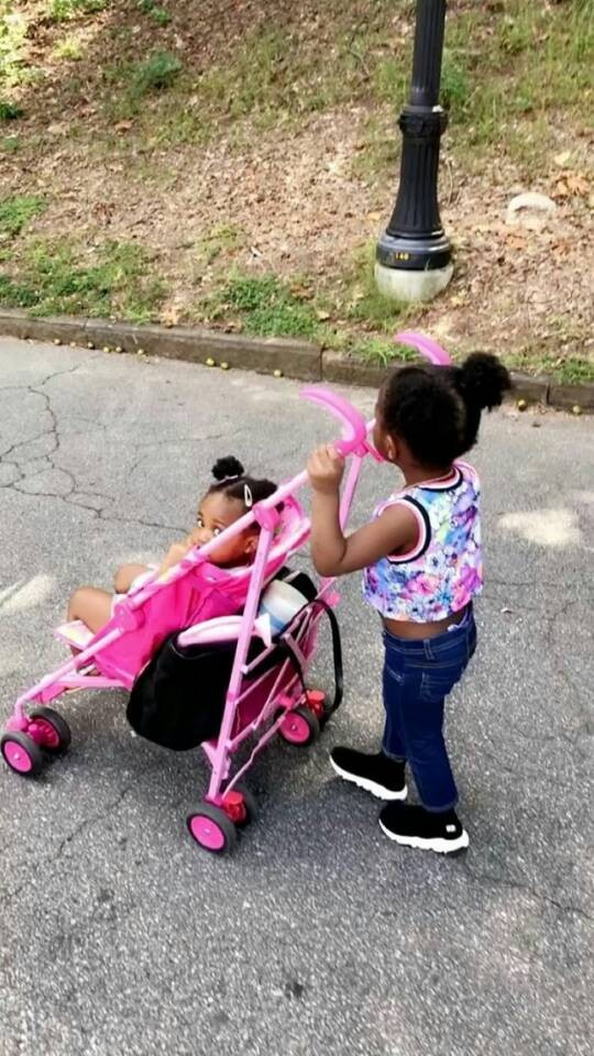 Davido's babymamas, Sophia Momodu and Laplubelle organize playdate for their daughters (Photos)
