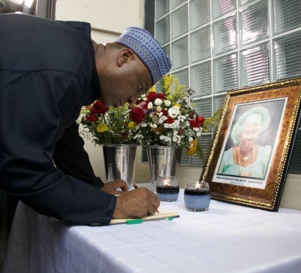 Bukola Saraki pays condolence visit to Governor Dickson in Bayelsa State (Photo)