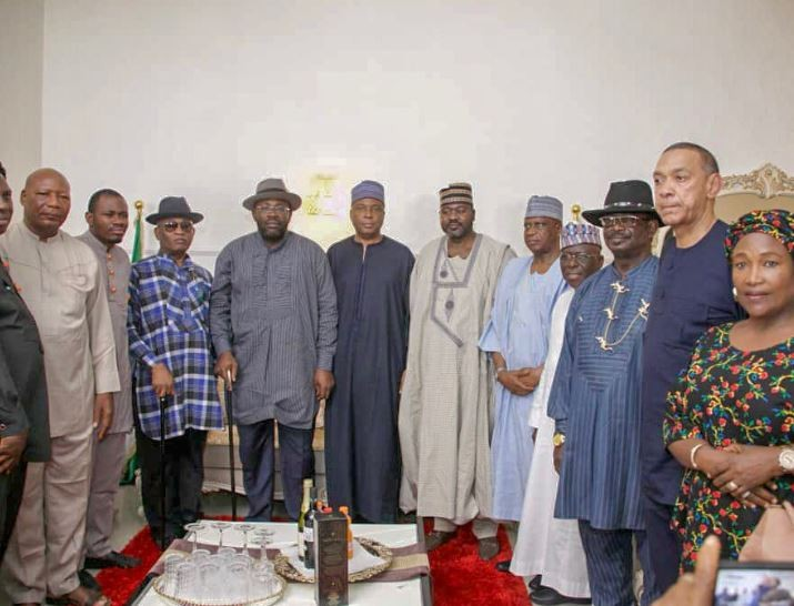 Photos: Bukola Saraki pays?condolence visit to Governor Dickson in Bayelsa State