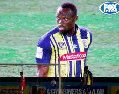Usain Bolt makes professional debut as a footballer in Australia (Photos)