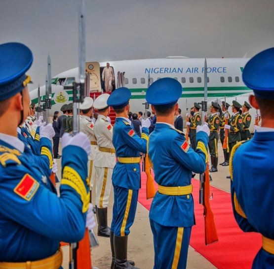 Photos: President Buhari arrives�China for the 7th Summit of the Forum on China-Africa Cooperation