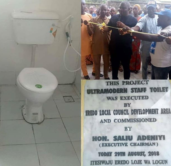 Photos: Local government chairman commissions ultramodern staff toilet p(photos)