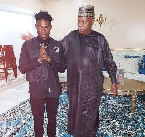 Lil Kesh meets Governor Kashim Shettima of Borno State (Photo)