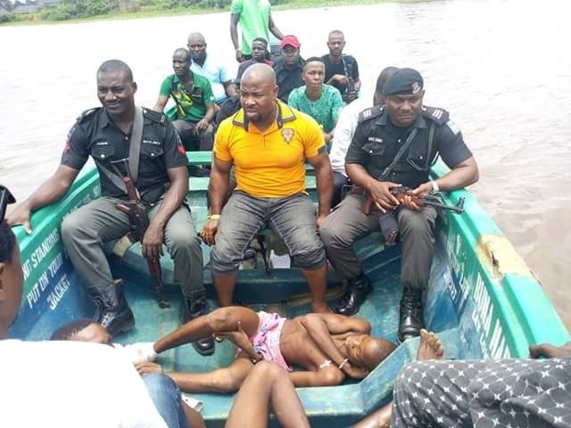 Photos: Three wounded cultists nabbed on their way to meet herbalist after bloody shootout with rival group in Bayelsa