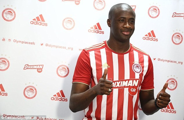 Former Manchester City star Yaya Toure receives rousing welcome as he returns to Olympiacos after 12-years ?(Photos)