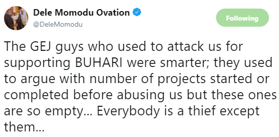 Dele Momodu throws shade at Buhari supporters on twitter