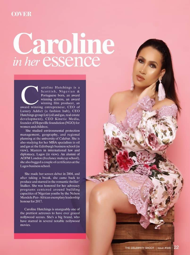 Caroline Danjuma for The Celebrity Shoot Magazine