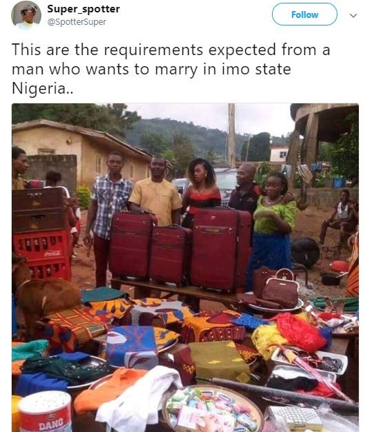Lol...Are these really the requirements expected from a man who wants to marry a lady from?Imo State (Photo)