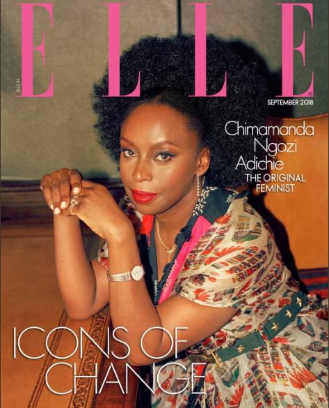 Chimamanda Ngozi Adichie covers Elle India