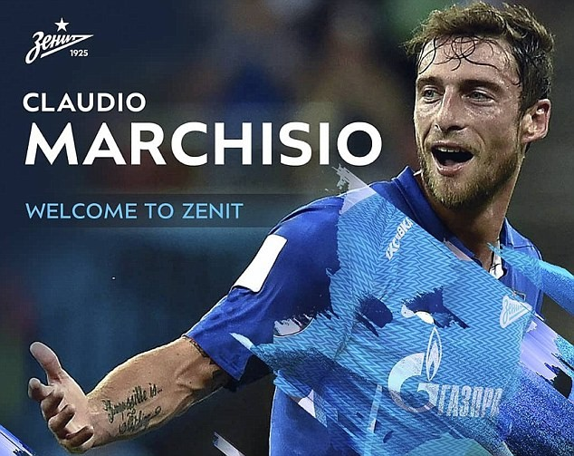 Veteran Italian footballer Claudio Marchisio signs for Zenit St Petersburg after he ended 25-year stint with Juventus
