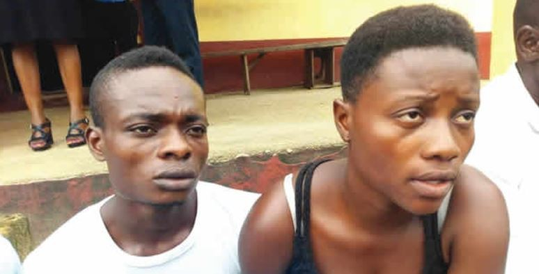 Photo: Police arrest Husband and wife for selling their only son for N180,000 in Cross Rivers