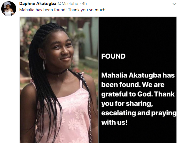 Update: 15 year old Nigerian girl declared missing in Ghana has been found!