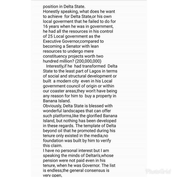 Bovi slams I Go Dye for criticizing ex-Delta State Governor Emmanuel Uduaghan