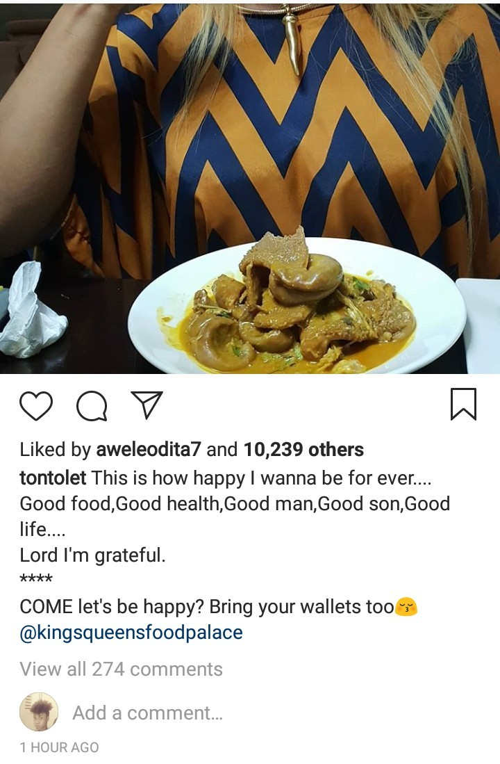 Tonto Dikeh hints at being in a relationship