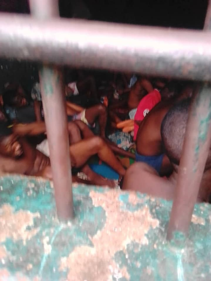 Social activist shares heartbreaking photos of inmates in Warri prison