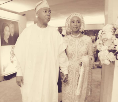 Bukola Saraki showers his wife, Toyin, with kind words as she turns a year older