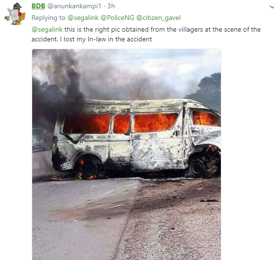 Nigerians accuse management of Peace Mass Transit and FRSC of allegedly burying passengers involved in a fatal accident without the consent of their families