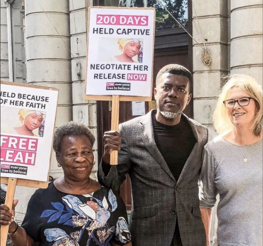 Reno?Omokri leads protest In London?200 days after Leah Sharibu