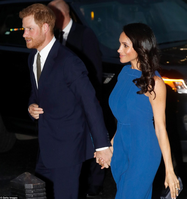 Meghan Markle dazzles in blue as she and Prince Harry attend 100 Days to Peace