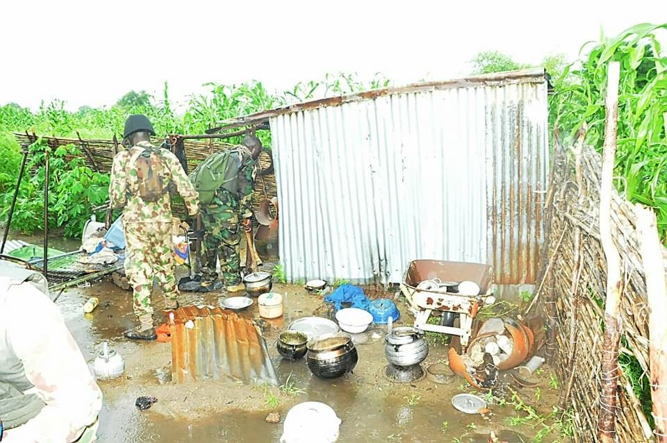 Photos: Troops storm Boko Haram hideout in Borno, rescue 21 civilians