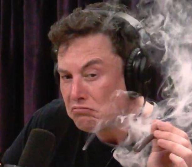Tesla CEO, Elon Musk smokes 'weed' during Interview with Joe Rogan(Photos)