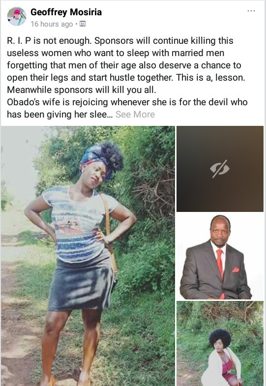 """Sponsors will continue to kill you all""- Man celebrates murder of pregnant Kenyan student alleged to be a politician"