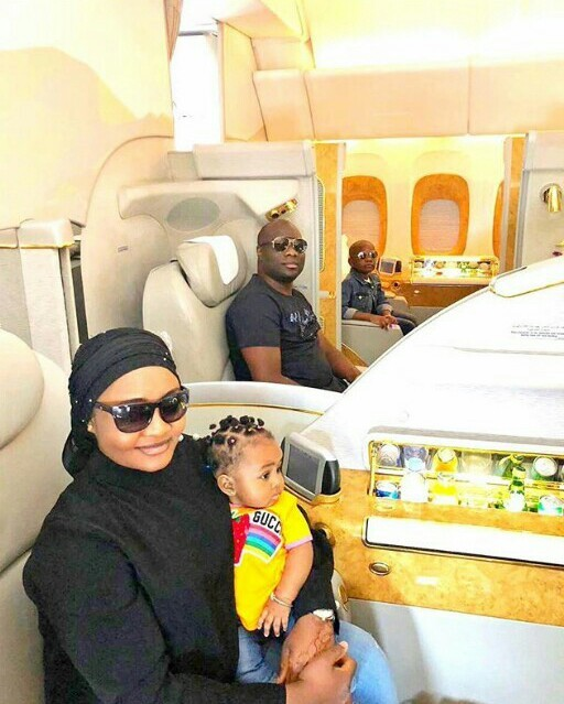Mompha wants everyone to know that himself, wife and kids flew first class to India, shares tickets photos
