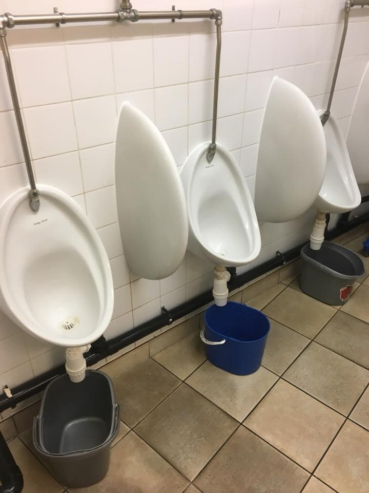 See the state of the rest room at the Nigerian High Commission in London