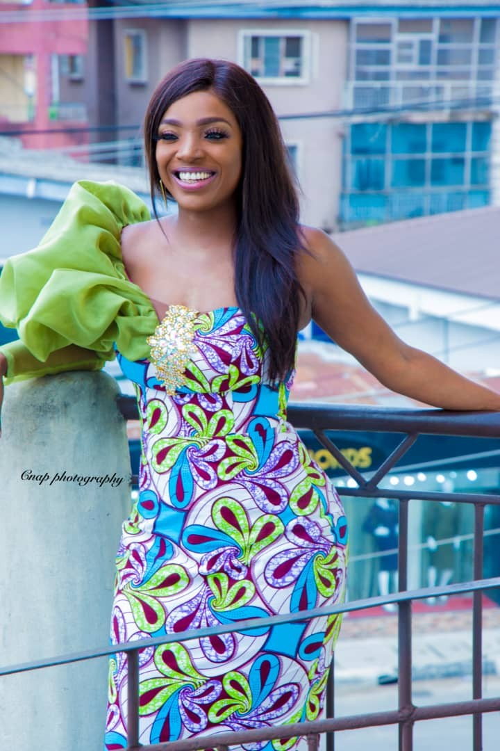 Stunning new photos of Annie Idibia rocking Ankara fabric