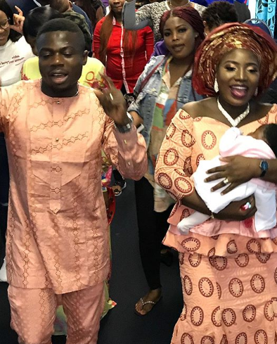 Photos from the dedication of super eagles player, Moses Simon