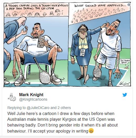 Australian newspaper slammed for racist cartoon of Serena Willams?