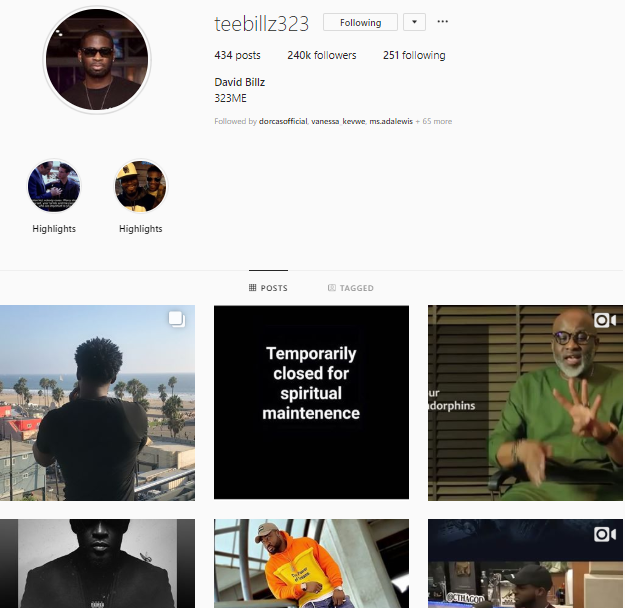 Teebillz deletes his controversial post