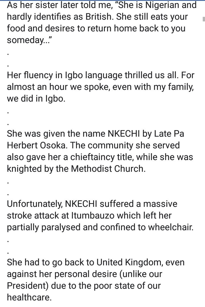 Man makes shocking discovery about a white woman who walked up to speak fluent Igbo to him and her story will surprise you