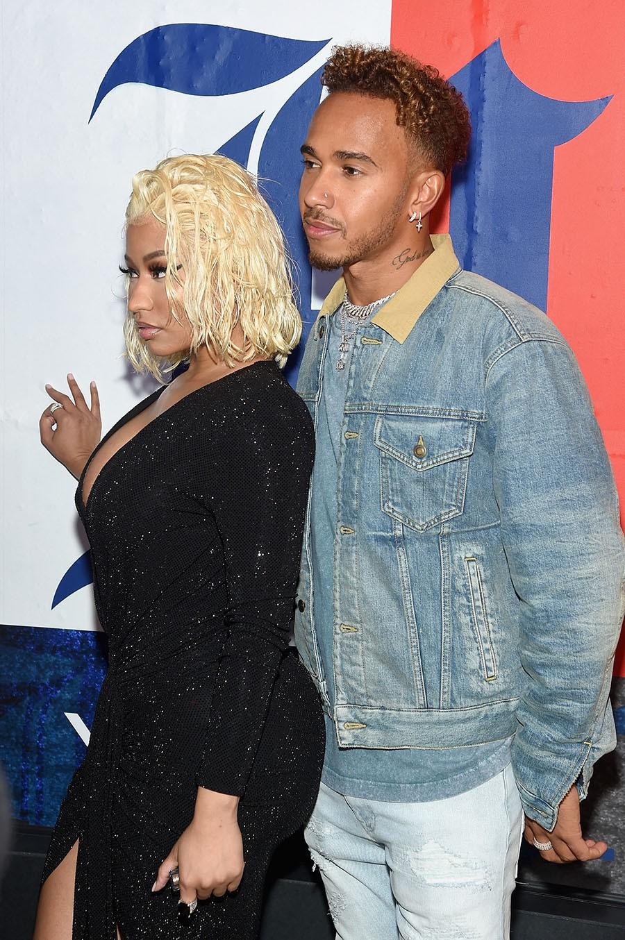 Nicki Minaj & Lewis Hamilton spark dating rumours with night out in NYC (photos)