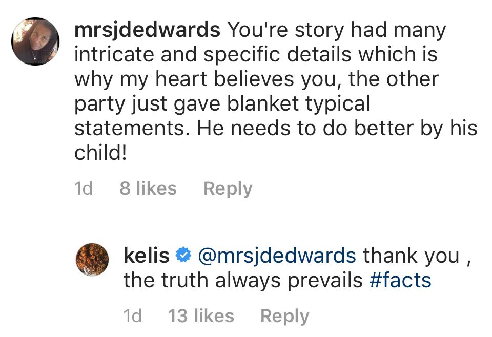 Kelis reacts to Nas