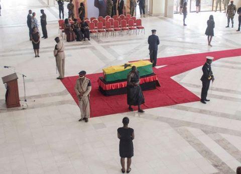 Ghanaians bid?farewell to Kofi Annan during a public lying-in-state ceremony (Photos)