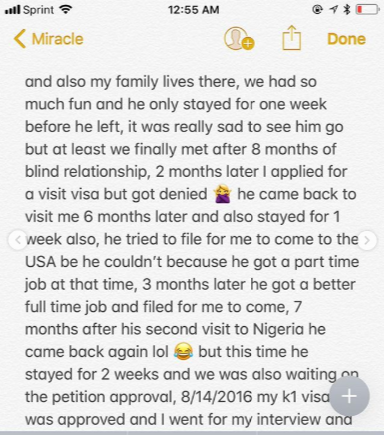 Nigerian lady narrates how she met her American husband on Facebook