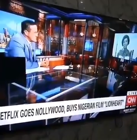 Genevieve Nnaji gets interviewed by CNN after her movie