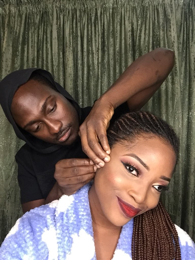 Nigerian man warms hearts of many after sharing a video of himself perfectly doing his girlfriend