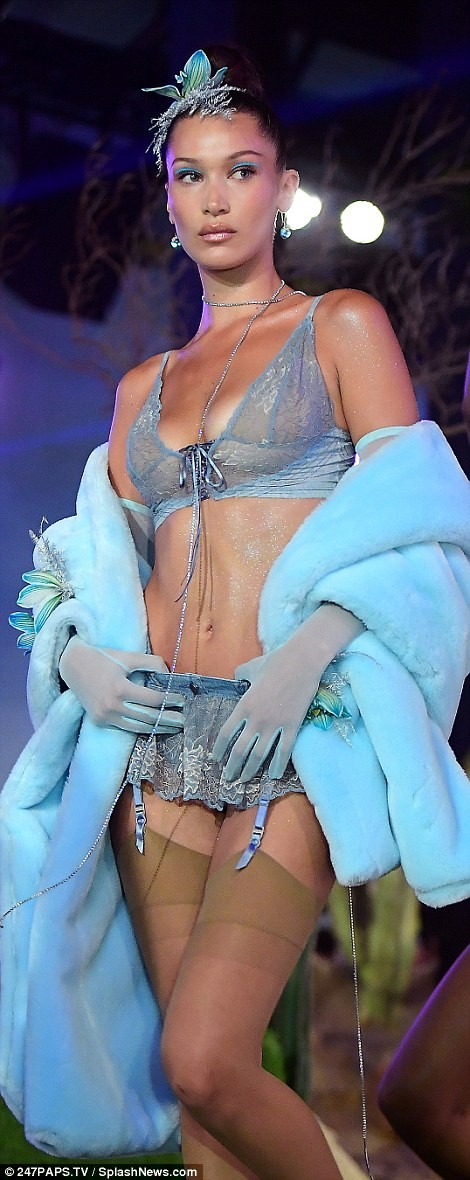 Gigi and Bella Hadid lead the lingerie-laden runway at ?Rihanna