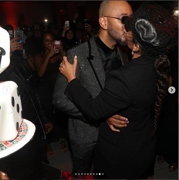 ?Alicia Key and Swizz Beatz lock lips as they celebrate his 40th birthday inside a luxury yacht ( Photos)