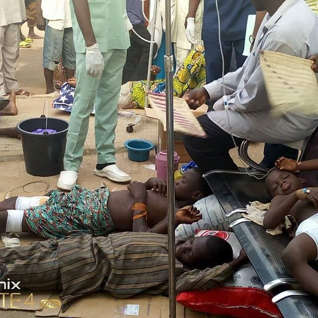 Photo: Children injured in Zamfara attack on floor at Specialist hospital Gusau